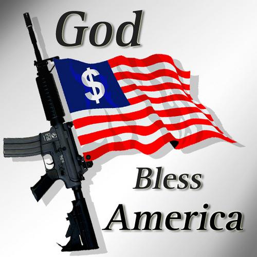 God-bless-america-flag-gun