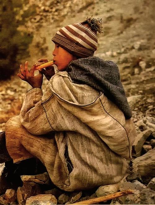 Enfants à flute