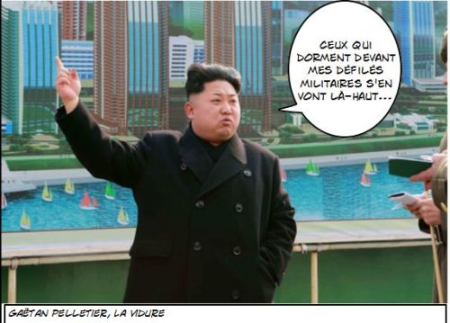 Caricature Kim Jong-un 2